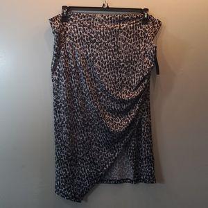 NWT Courtenay midi wrap skirt